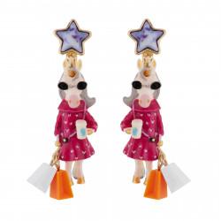 Boucles D'oreilles Originales Boucles D'oreilles Clip Licorne Fashion60,00€ AFUN104C/1N2 by Les Néréides