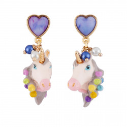Earrings With Unicorn Head...