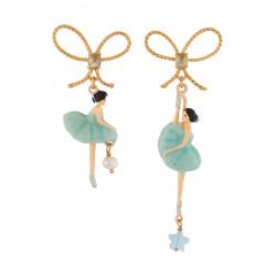 Boucles D'oreilles Pendantes Boucles D'oreille Asymétriques Pas De Deux Bleu