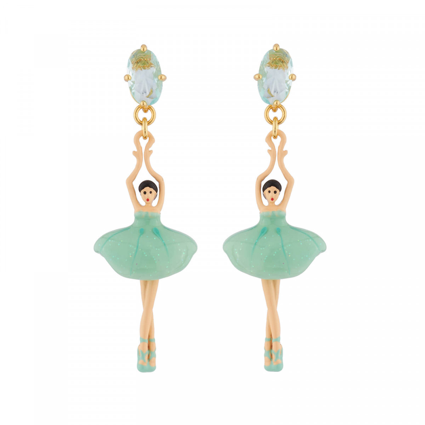 Boucles D'oreilles Pendantes Boucles D'oreille Pas De Deux: Ballerines Et Pierre Bleu95,00€ XDD115T/1Les Néréides