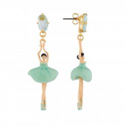 Boucles D'oreilles Pendantes Boucles D'oreille Pas De Deux: Ballerines Et Pierre Bleu