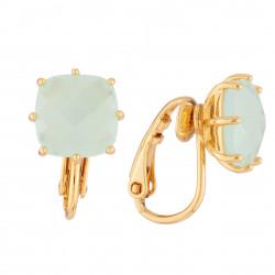 Boucles D'oreilles Clip Clip Earrings La Diamantine Square Stone Green50,00€ XLD101C/1Les Néréides