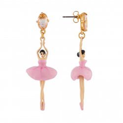Boucles D'oreilles Pendantes Boucles D'oreilles Tiges Ballerine Rose Et Pierre95,00€ RDD115T/2Les Néréides