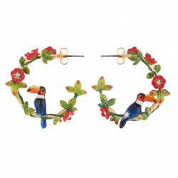 Toucan On A Branch Stud Hoops
