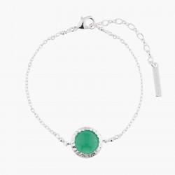 Green Agate Chain Bracelet