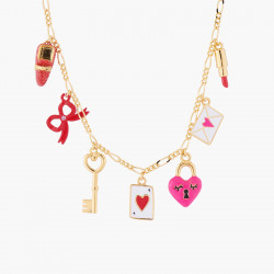 Love Charms Thin Necklace