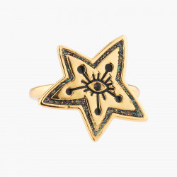 Eye And Star Adjustable Ring