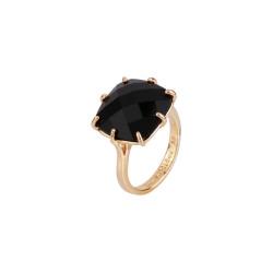 Black Square Stone Ring