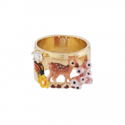 Ring With Fawn, Rhinestones...