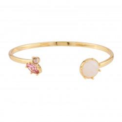 Bangle Bracelet With Quartz...