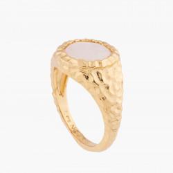 Pink Quartz Solitaire Ring