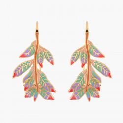 Indian Leaves Hook Earrings