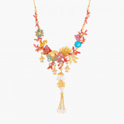 Coral Set Collar Necklace