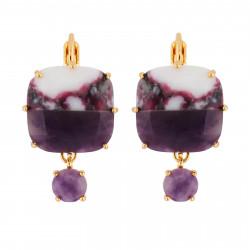 Marbled Purple Square Stone...