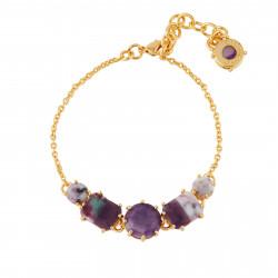 5 Marbled Purple Stones...
