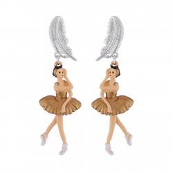 Stud Earrings Golden Swan...