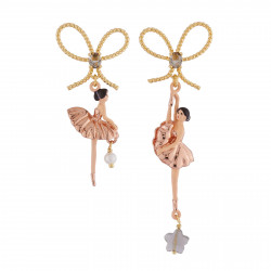 Pink Gold Ballerina Stud...