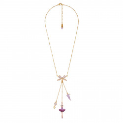 Necklace Plum Ballerina And...
