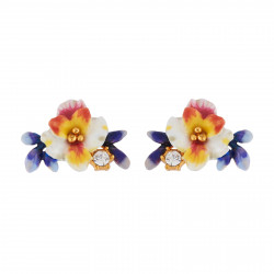 Earrings With White Flower,...