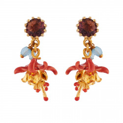 Earrings With Small Faceted...