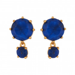 Round Dark Blue Stones With...