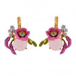 Earrings Pink Flower On...