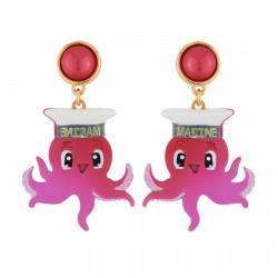 Captain Octopus Earrings