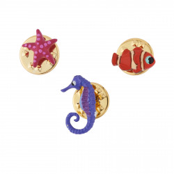 Set Of 3 Pins With...