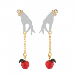 Hand And Poison Apple Earrings