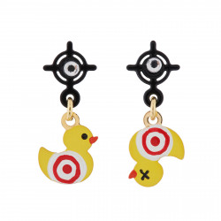 Small Target-duck Earrings