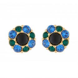 Flower Stud Earrings With...