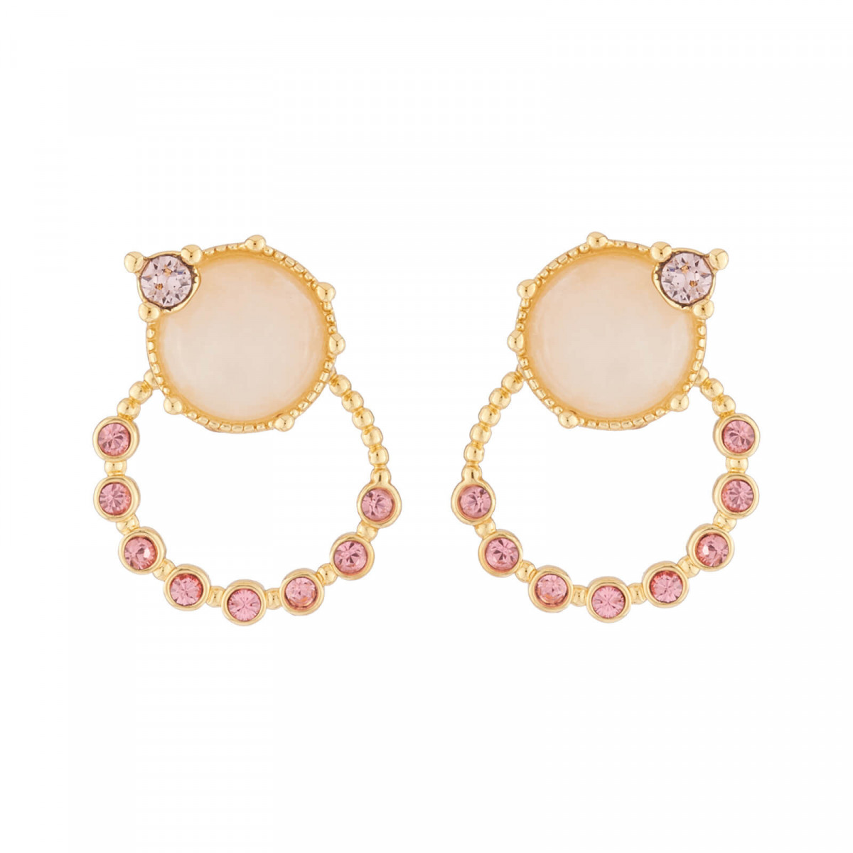 7b575be0d97 Adjust these stud earrings as you desire  take the ring off to adorn your  ears a with unique stones
