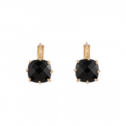 Black Square Stone Earrings