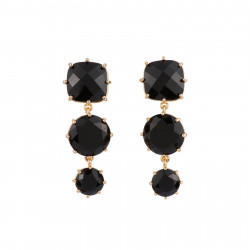 3 Black Stones Earrings