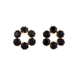 6 Black Stones Hoops