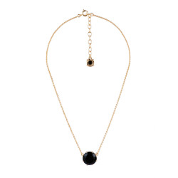 Black Round Stone Necklace