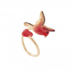 Heart And Bird Adjustable Ring