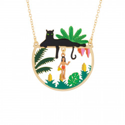 Mowgli And Bagheera Necklace