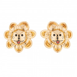 Laughing Sun Clip-on Earrings