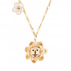 Laughing Sun Pendant Necklace