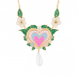 Pink Heart And Pearl Collar...