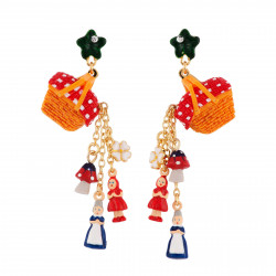 Earrings With Trimmed...