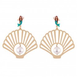 Clip-on Earrings With Shell