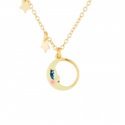 Moon Pendant Thin Necklace