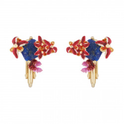 Coral And Exotic Flowers On...