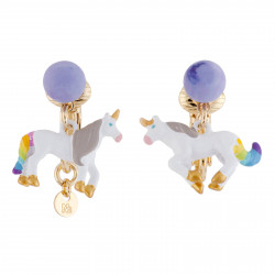 Clip-on Earrings With Unicorn