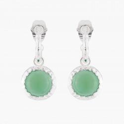 Green Agate Stud Earrings