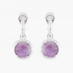 Violet Amethyst Stud Earrings