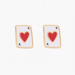 Ace Of Heart Stud Earrings