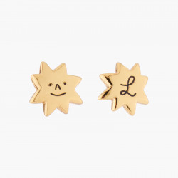Star And Love Stud Earrings